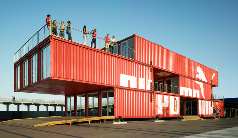 Container Building puma city - lot-ek architecture & design