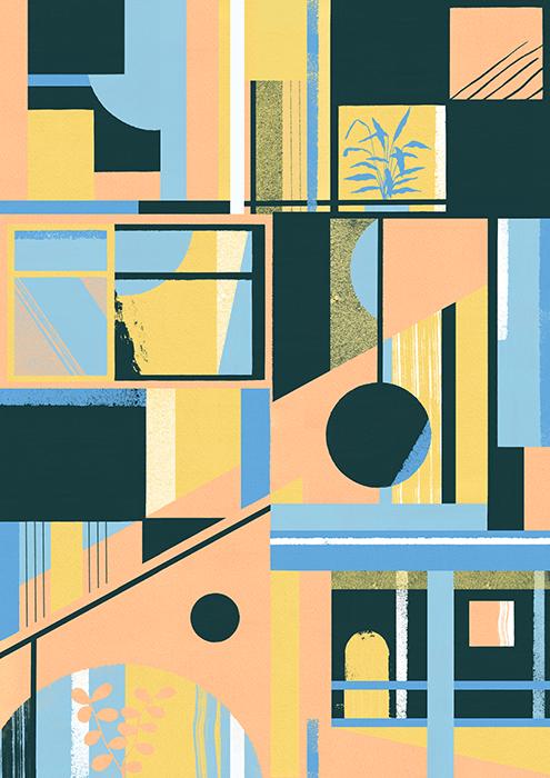 F 248 Rest Prints Series Daniel Clarke Illustration