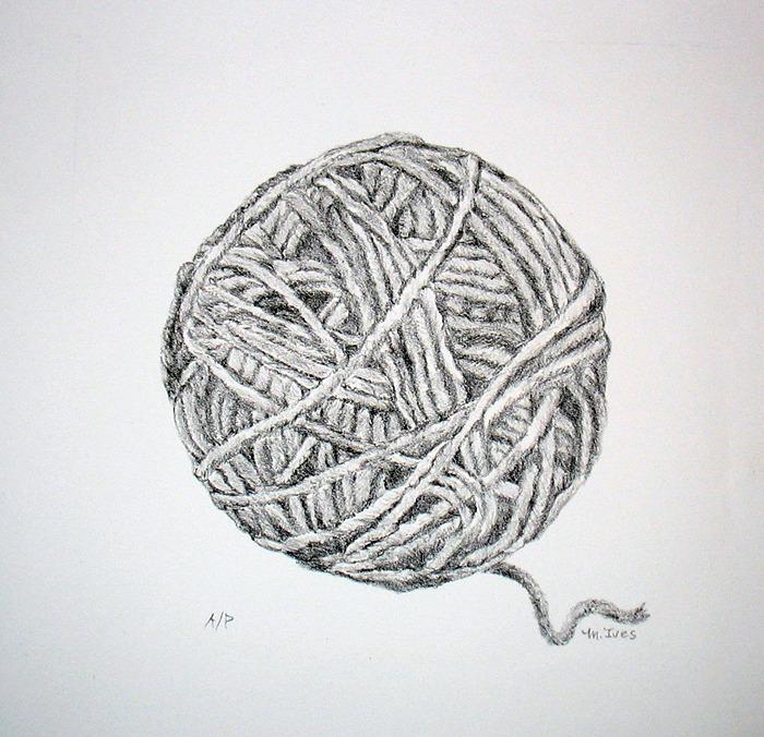 Line Drawing Yarn : Ball of yarn martha ives