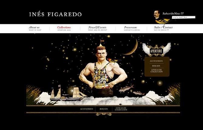 Website design for the luxury handbag brand