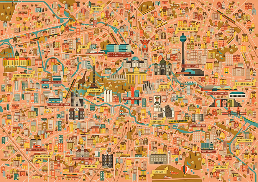 Lonely planet berlin city map: lonely planet: 9781786574114.