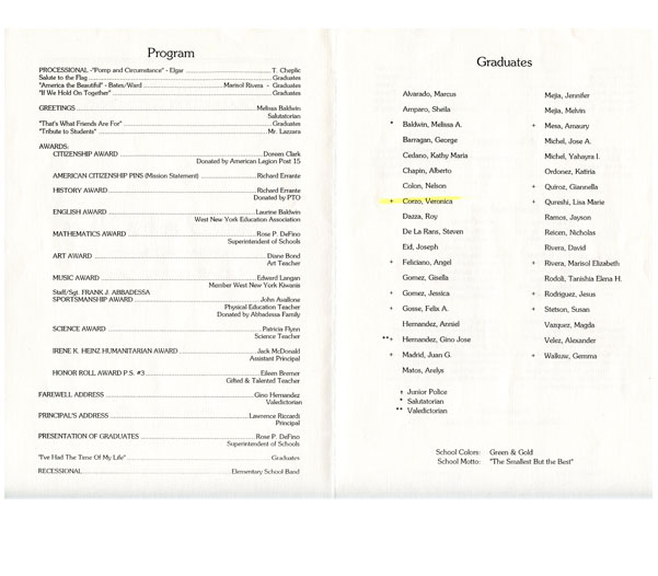 Th Graduation Program  Neche Collection