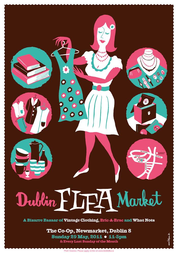 Dublin Flea Market Niall Mccormack Illustration Amp Design