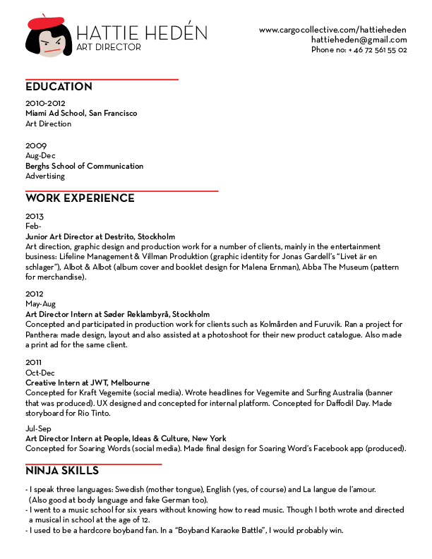 Delightful Cargo Collective  About Me Resume