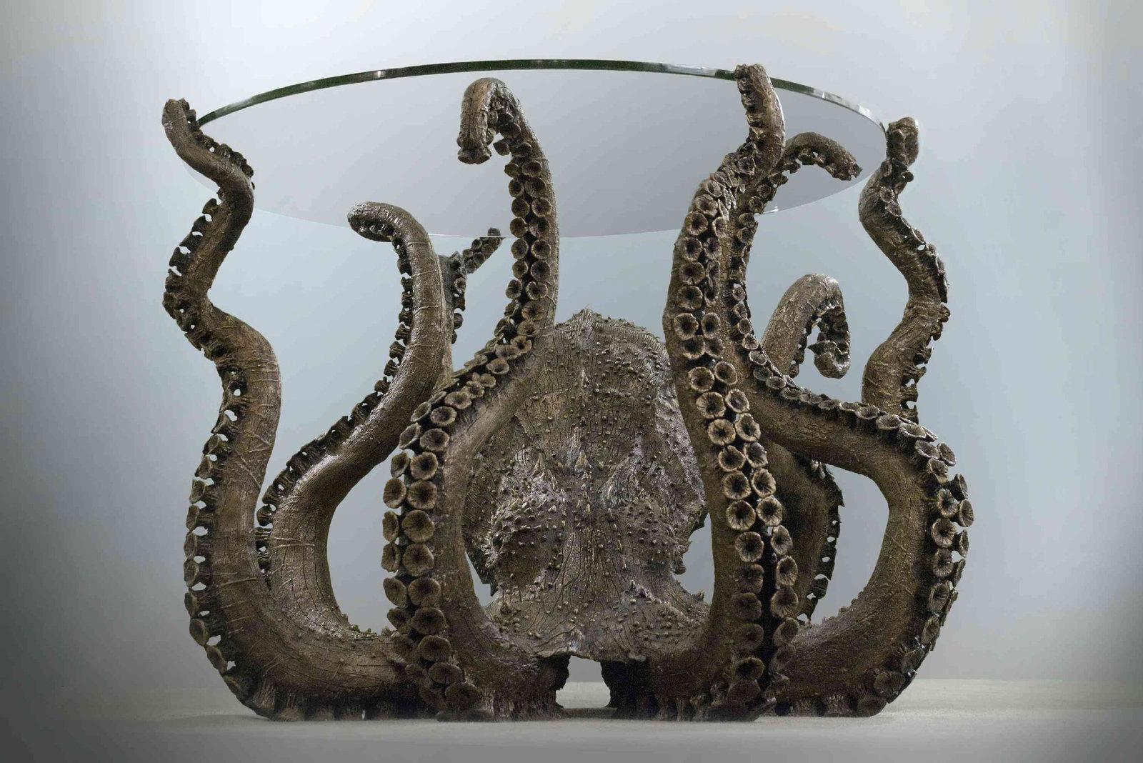 Bronze Octopus Table 3d Portfolio