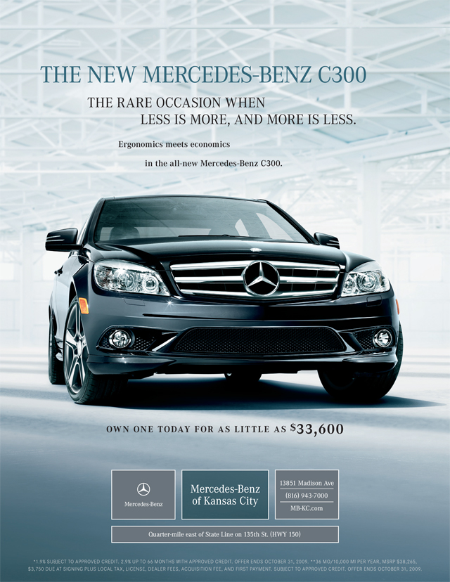 Soave automotive group a tyler martin ad for Mercedes benz of kansas city aristocrat