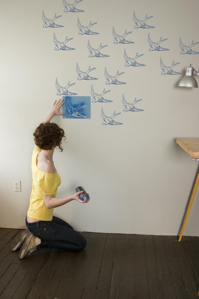 Как сделать рисунок на покрашенной стене