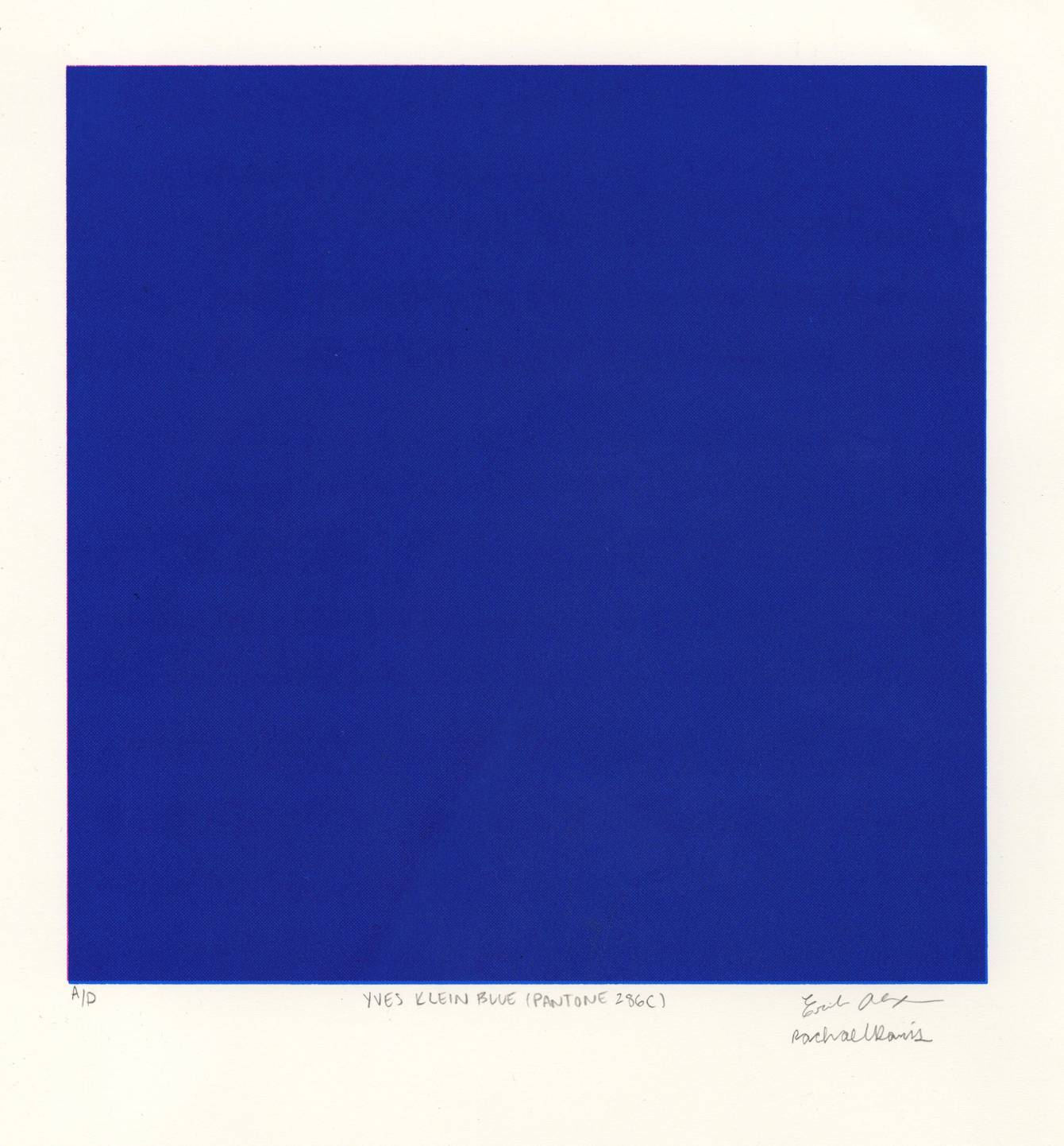 Yves Klein Blue Pantone 286c Erika Blair