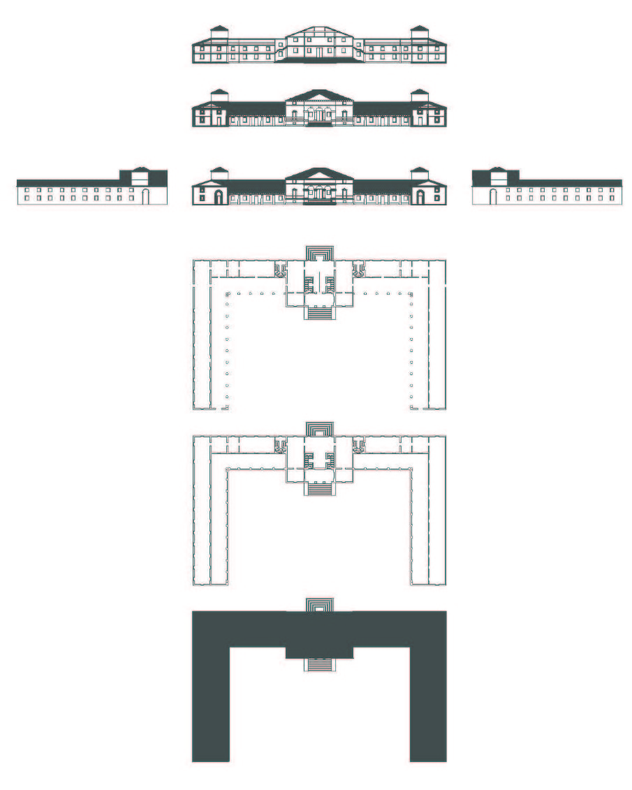 Relationship Of Elevation To Plan : Arch villa saraceno palladio nicholle leung