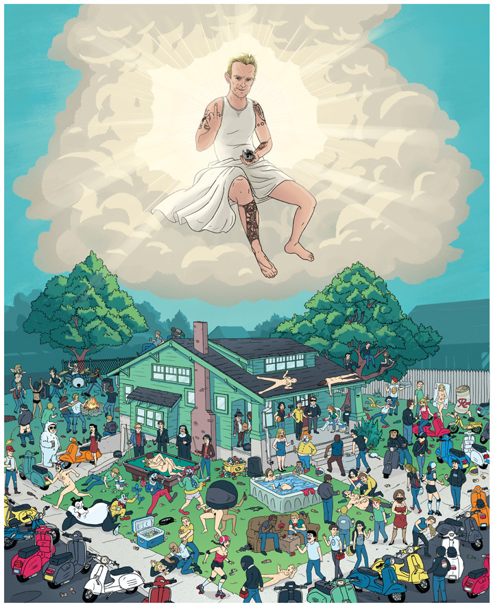 Spring Scoot 23 Poster - Noah Illustration