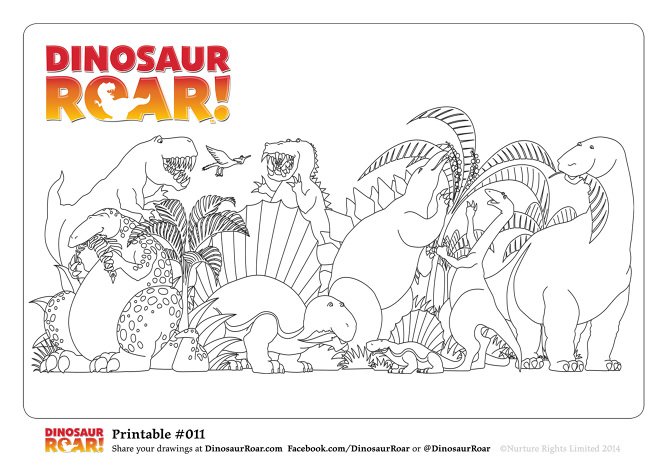 Free Dinosaur Roar Colouring Pages - Paul Stickland