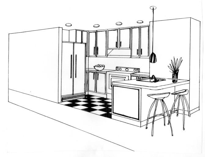 interior design sketches laetitia desroches