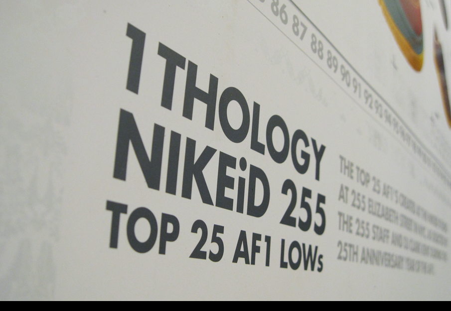 NIKEiD 1THOLOGY Air Force 1 Poster refunktion Personal