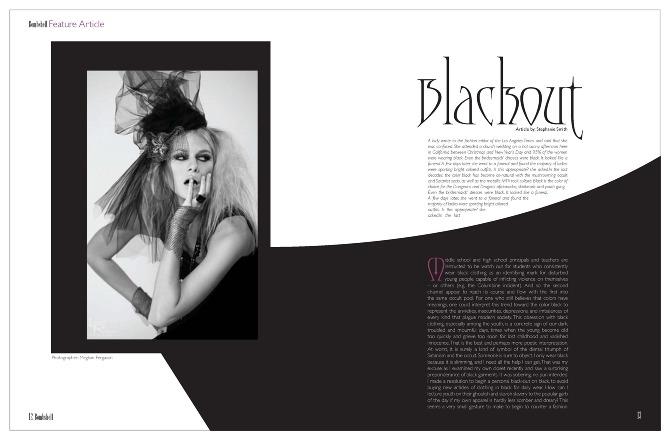High Fashion Magazine Article