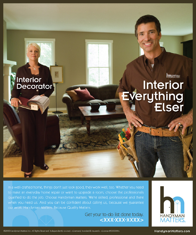 Handyman Matters Print Ads - Hot Dish Advertising