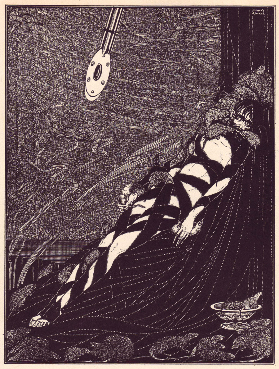 Mystery Book Cover Illustration : Harry clarke illustrations for e a poe watts