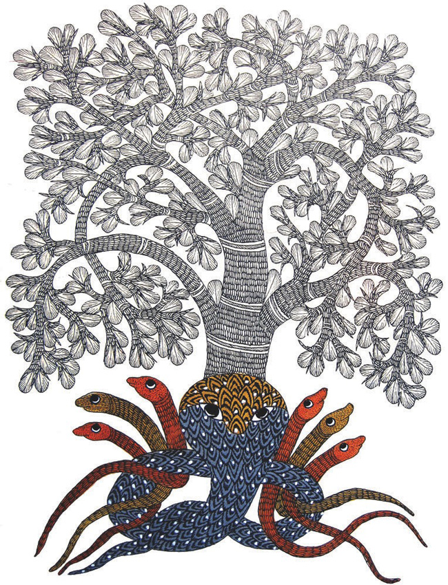 An example of Gond art taken from the web