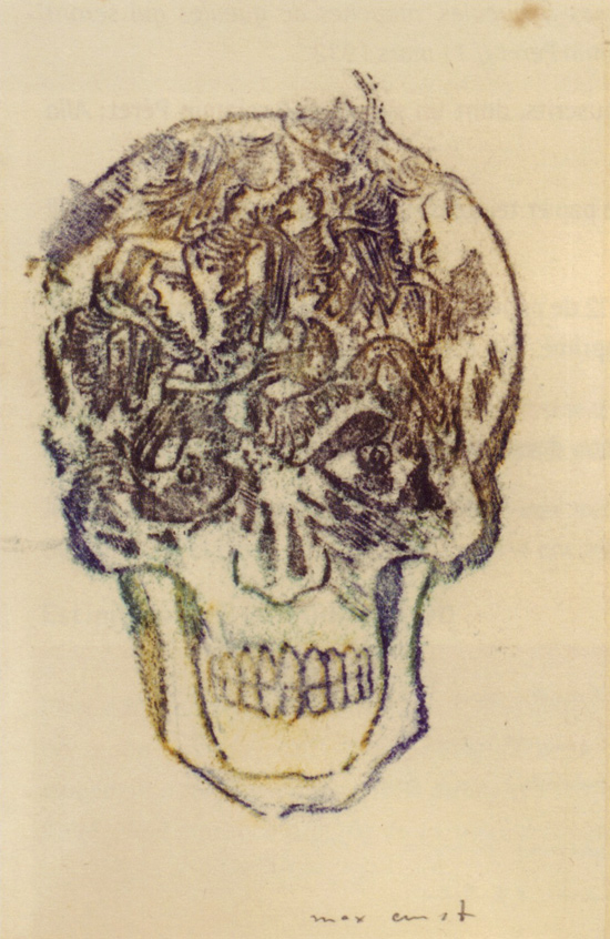 max ernst frottage skulls for peret 50 watts