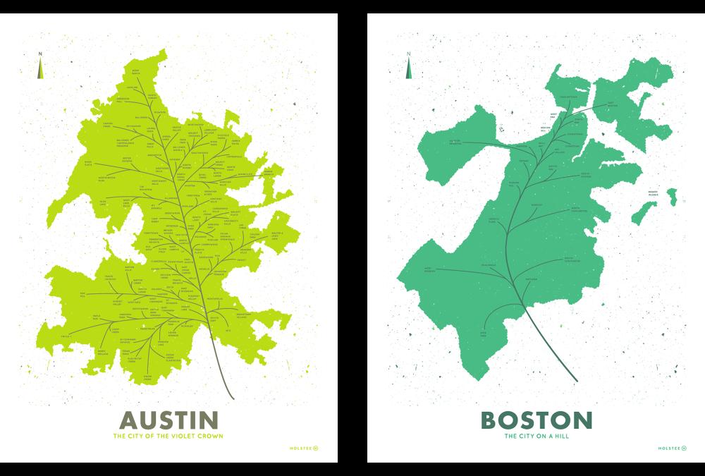 City Leaf Maps - Andrew Martis   Letterer & Designer