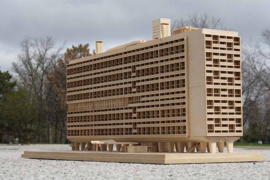 unite d 39 habitation model andrea baker architecture. Black Bedroom Furniture Sets. Home Design Ideas