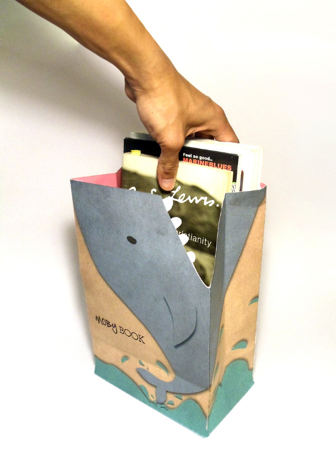 moby book shopping bag