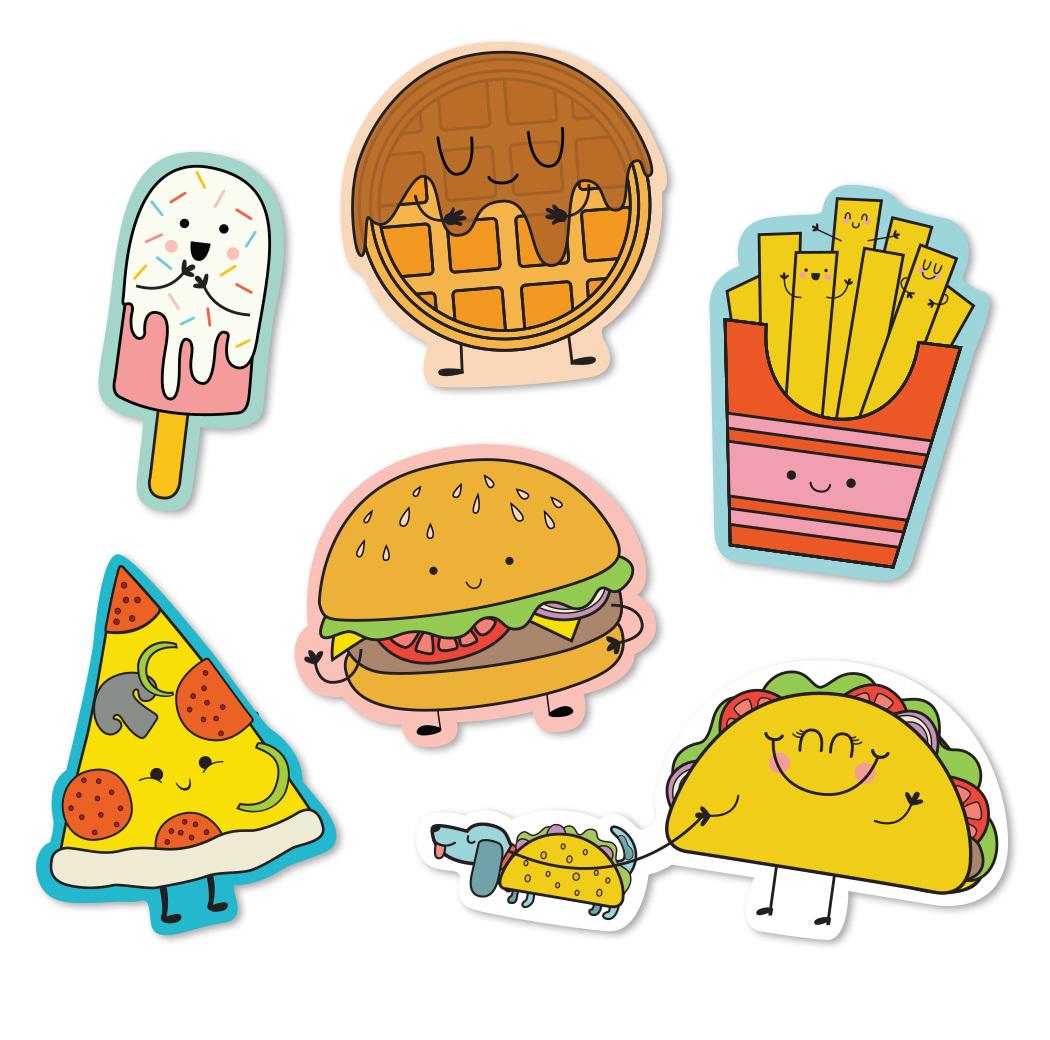 Cute food stickers katie daugherty