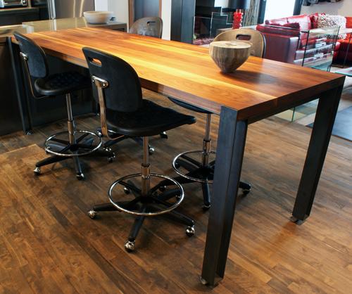 Tables bureaux felix lepage design - Table salle a manger bois acier ...