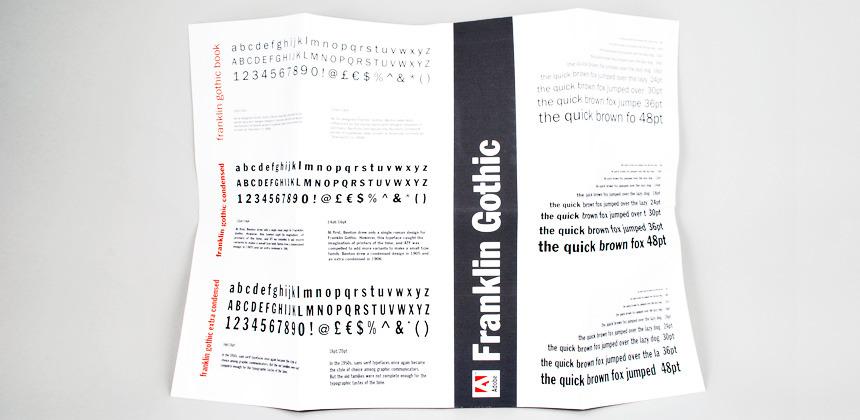 Franklin Gothic Specimen Sheet - Jessica Dennison