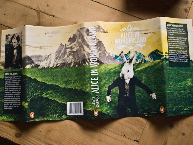 Alice In Wonderland Book Cover Designs : Alice in wonderland alternate book cover design jesse