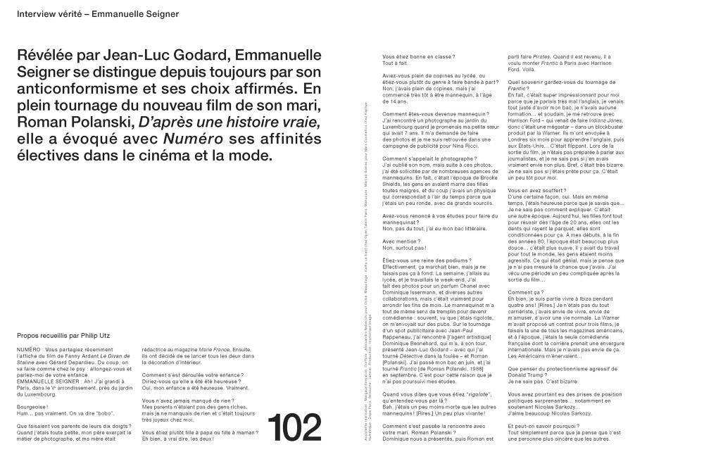 pretty nice e2ac0 dcc8c Emmanuelle Seigner by Jean-Baptiste Mondino
