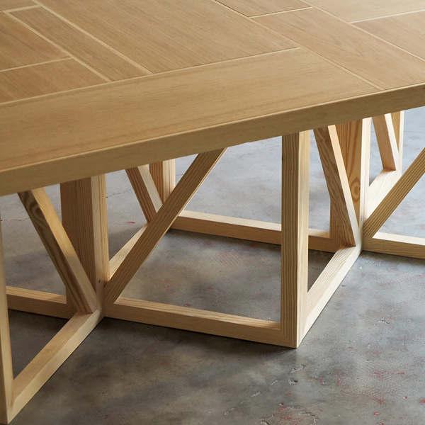 Tavolo wooden patchwork il riutilizzo dello sfrido di for Oggetti per architetti