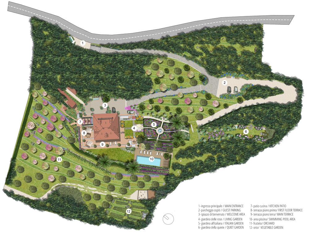 Progetti Esterni Di Ville : Villa gallia toscana progetto degli esterni la profiqua