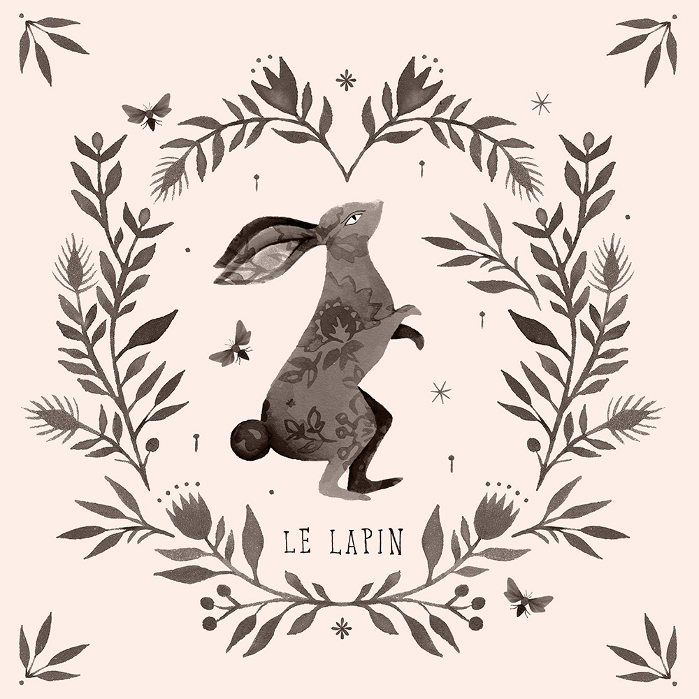 Fleur Illustration watercolour illustration - rabbit - fleur harris