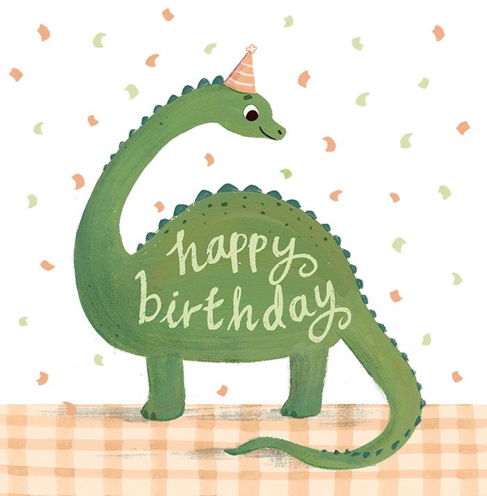 Картинки, открытка с динозавриком