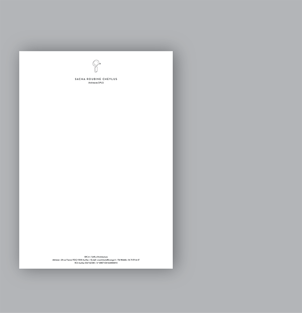 Cration De Lidentit Visuelle Sacha Roubine Cheylus Architecte Carte Visite Papier Entte 2 Tampons