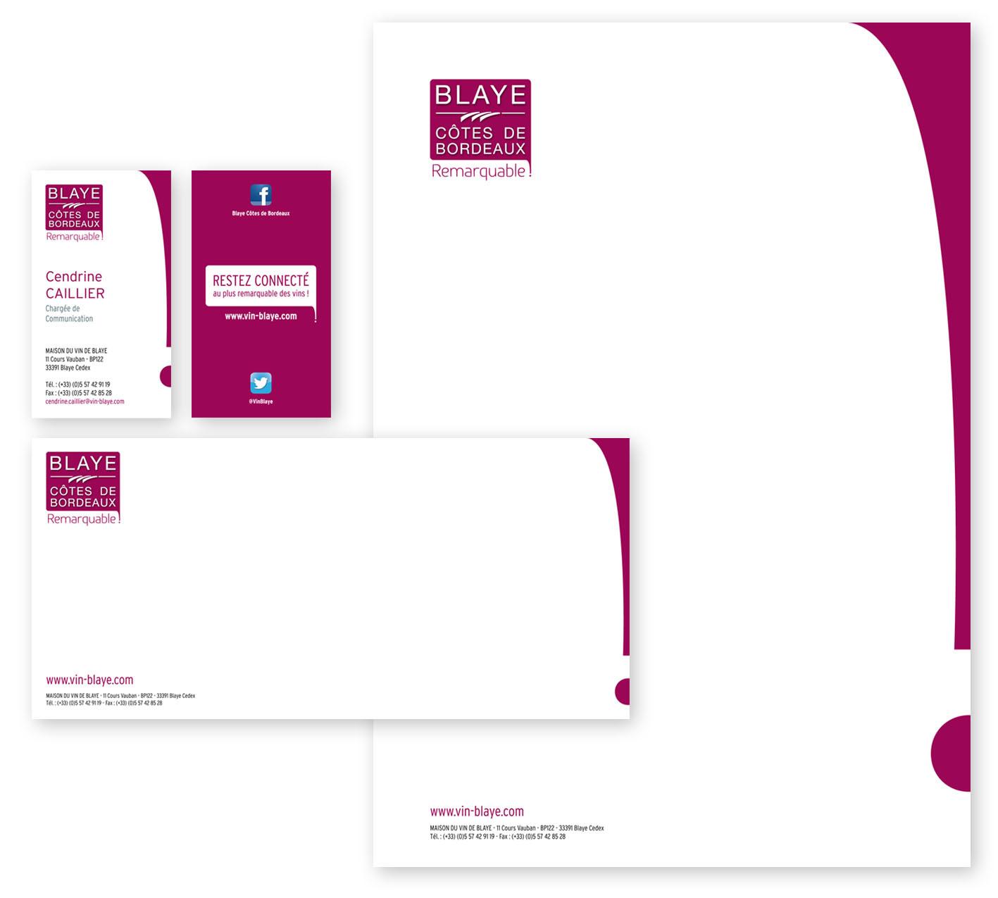 Cration De Lidentit Et Des Diffrents Supports Communication La Maison Du Vin Blaye Syndicat Viticole Logotype Carte Visite