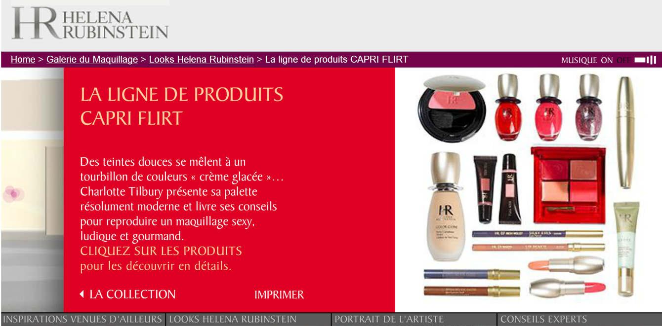 HELENA RUBINSTEIN / Promotional Websites, Campaigns