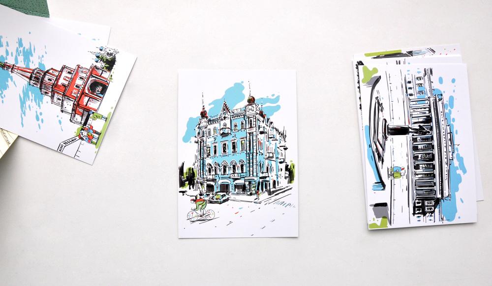 Дизайн открытки казань, сделать