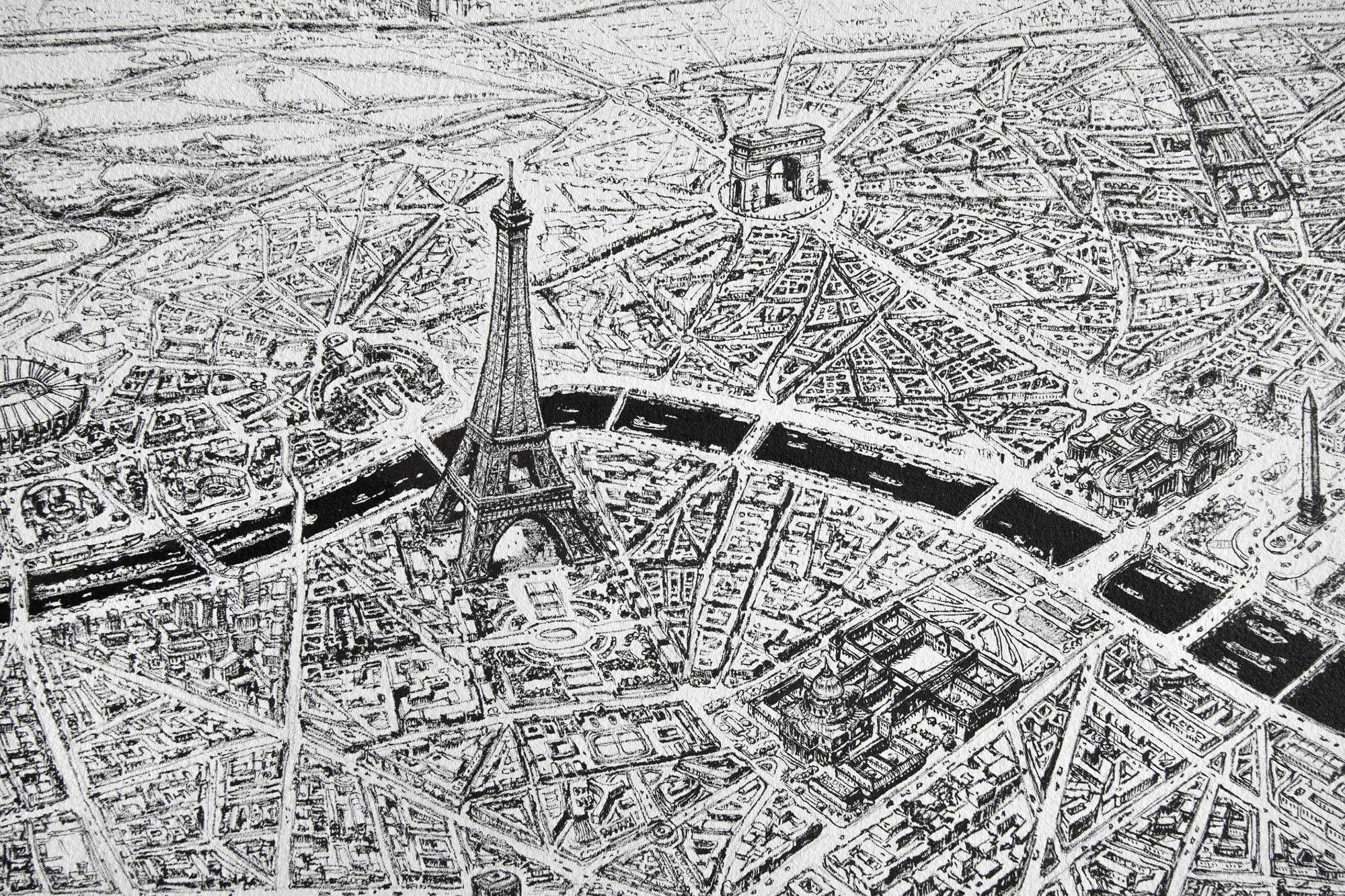 PARIS CITY MAP | Ltd edition print - Thomas Dartigues aka ...