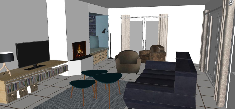 Design Salon Salle A Manger décoration salon/ salle à manger/ cuisine - aurore baril