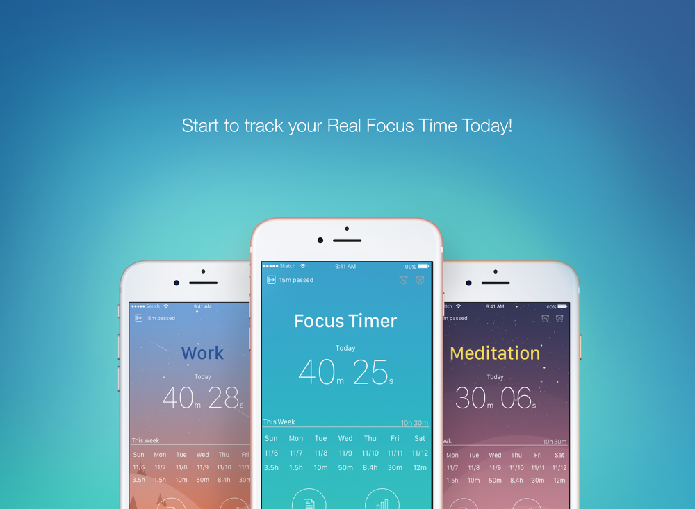 Upgrading Focus Timer App for iOS/Android - workby-narinnn