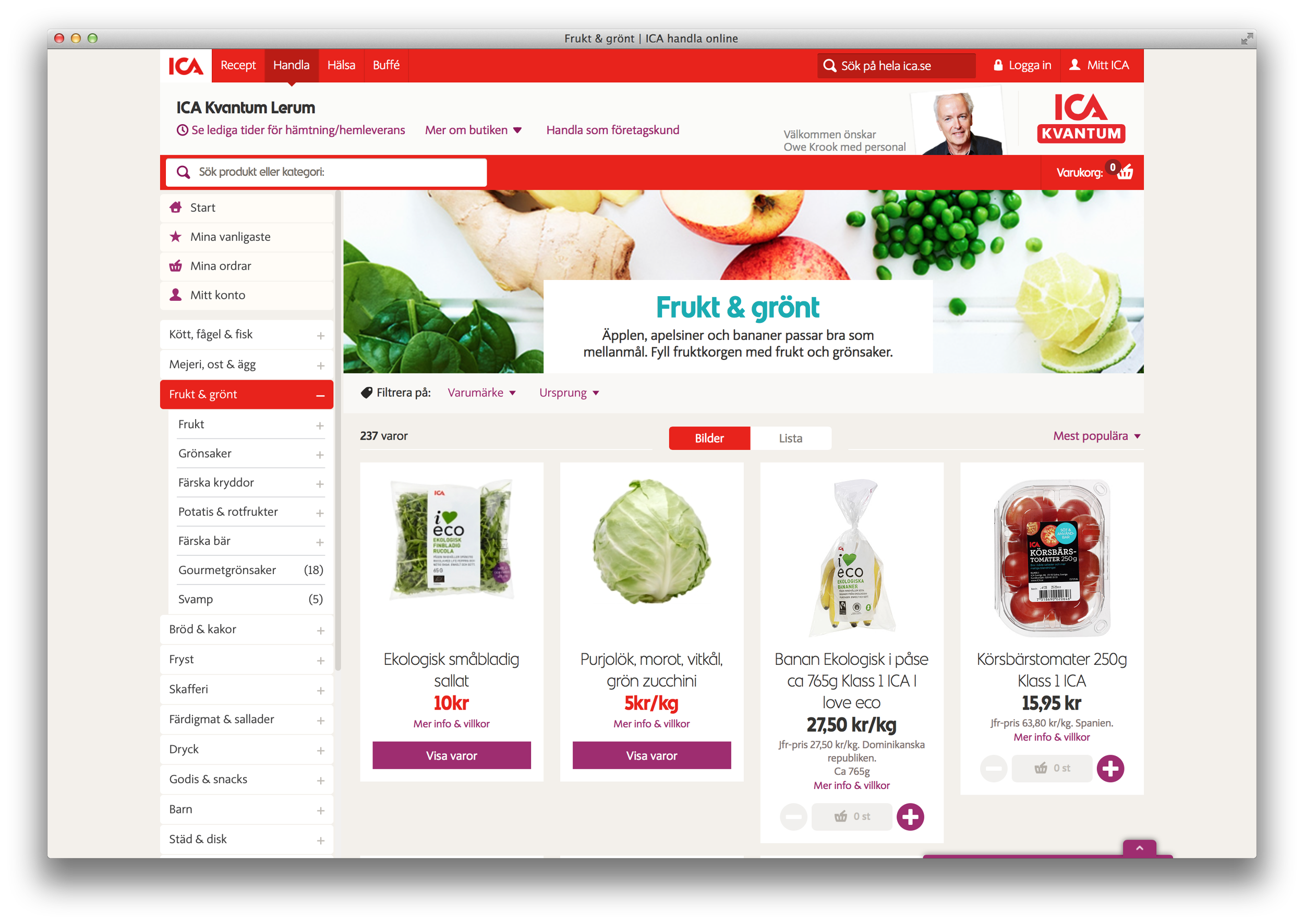 ica shopping online