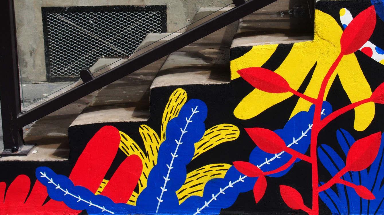 Fresque Murale Rue Boulard Caroline Laguerre