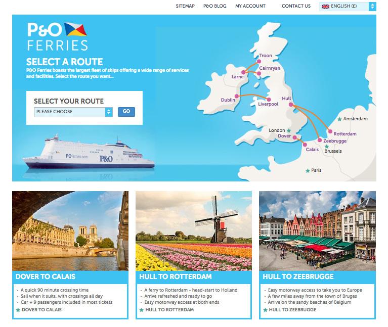 P&O FERRIES - Website - Joanne & Mark Creative