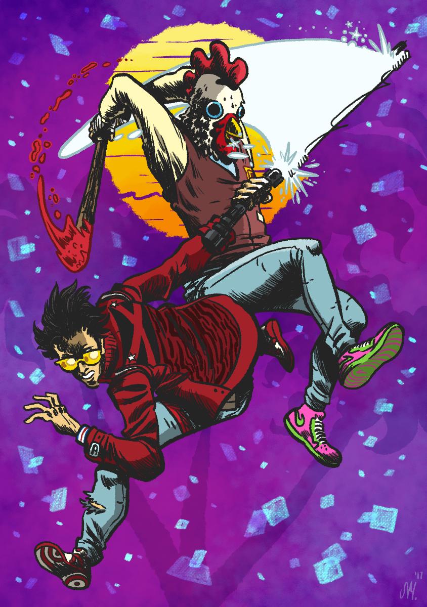No More Heroes X Hotline Miami Svm Comics