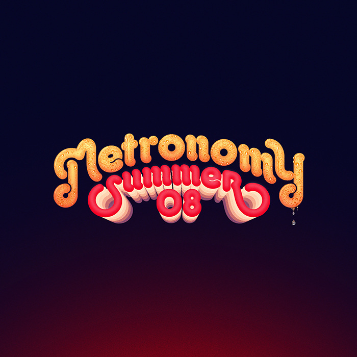 MetronomySummer 08 Album Cover - charlottedelarue-design