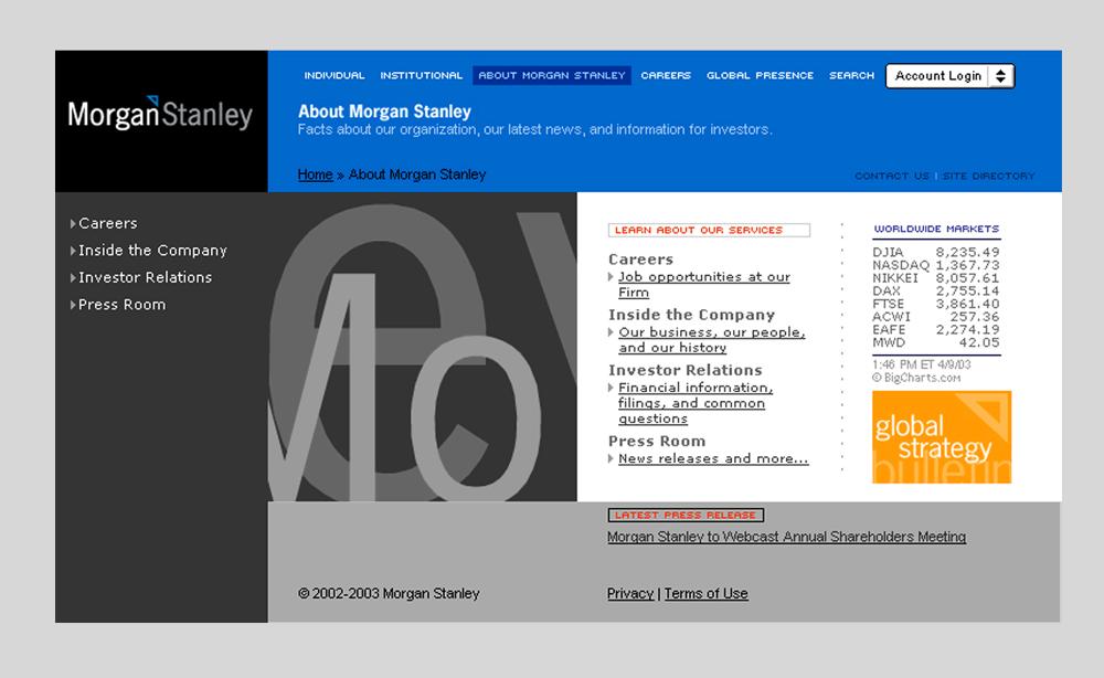 Morgan Stanley Investor Relations >> Morgan Stanley Robert Matza