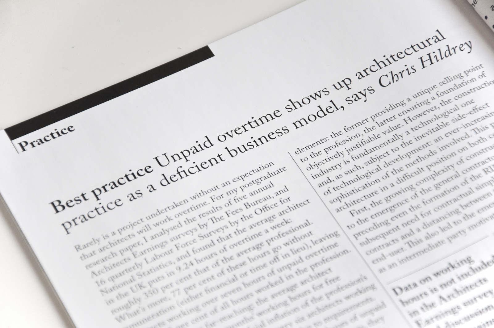 Architects' Journal Article - Hildrey Studio