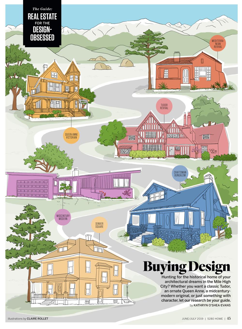 5280 Home magazine - Claire Rollet illustrator