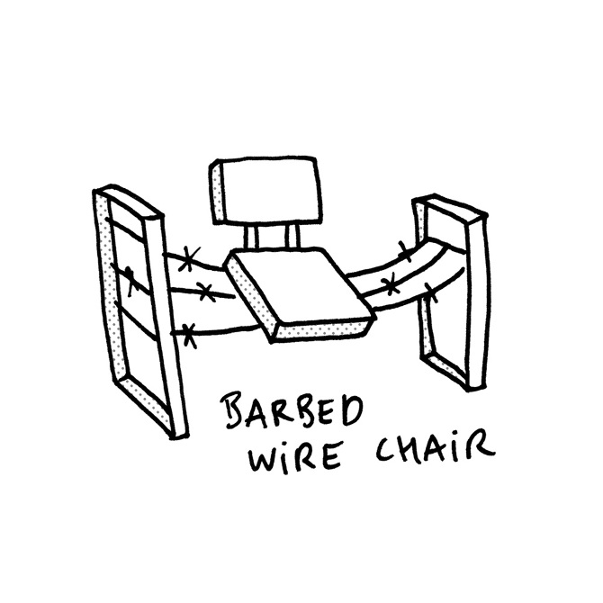 Barbed Wire Chair